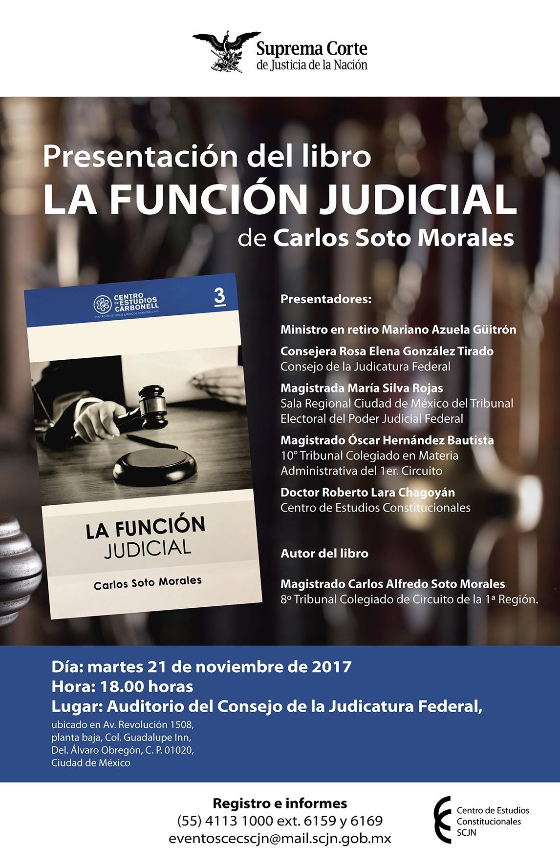 """Presentación del libro """"La función judicial"""" en el CEC-SCJN"""