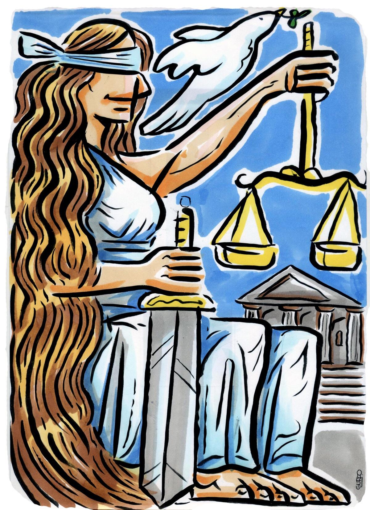 Algunas caricaturas de humor judicial